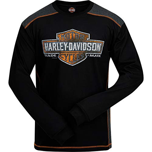 Panel Camp Shirt (Harley-Davidson Military - Men's Long Sleeve Tee with Panel Inserts - Camp Lemonnier | Splatter Shield XL)