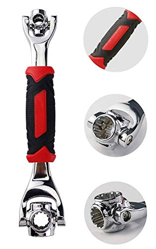FAMI New 2PC Snap'N Grip 9-32mm Adjustable Wrench Spanner Universal Quick Multi-function … (Red and Black-1) by FAMI (Image #5)