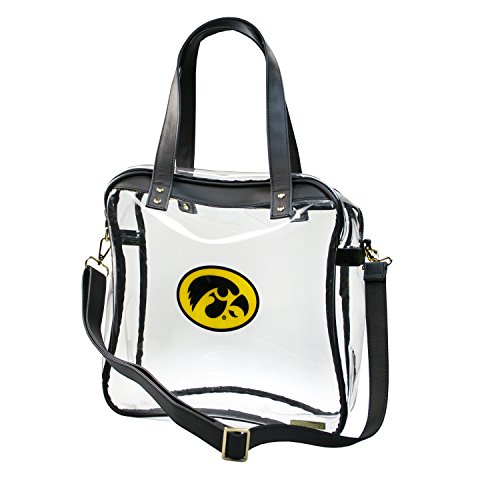 CAPRI DESIGNS CLEARLY FASHION LICENSED STADIUM COLLECTION CARRYALL TOTE---MEETS STADIUM REQUIREMENTS (University of Iowa) by CLEARLY FASHION