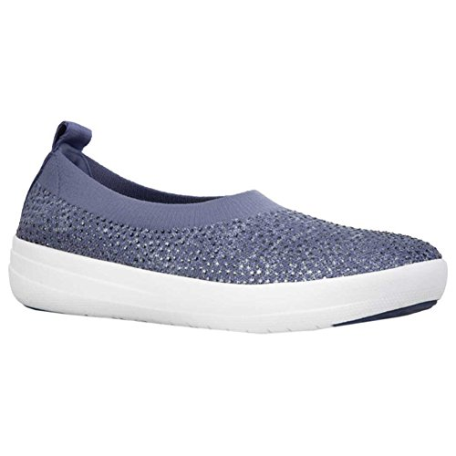 Slip Donna Punta Uberknit Indian Blue Chiusa powder Ballerina on Blue Fitflop B4aPZqww