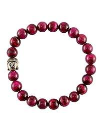 Aatm Reiki Energized Pink Tiger eye dyed Bracelet