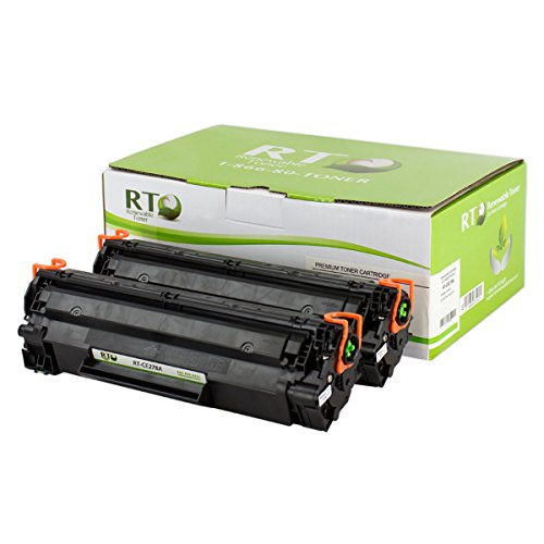 Renewable Toner Compatible Toner Cartridge Replacement for HP CE278A 78A for use in LaserJet P1560 P1566 P1606 M1536dnf (Black, 2-Pack)