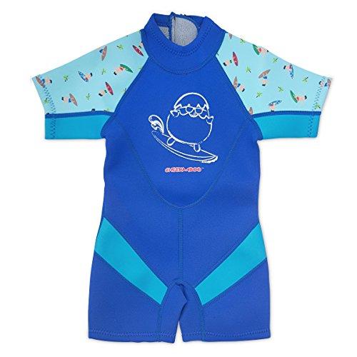 (Kiddies Kids & Toddler One Piece Thermal Neoprene Swimsuit, Age 3-4,)