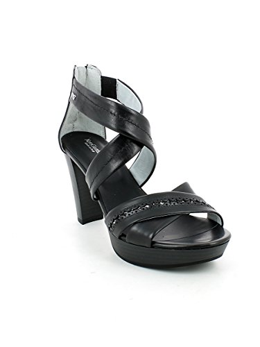 Incrociato Pelle Nera 35 Sandalo N Con In Glitter qCdgxgw
