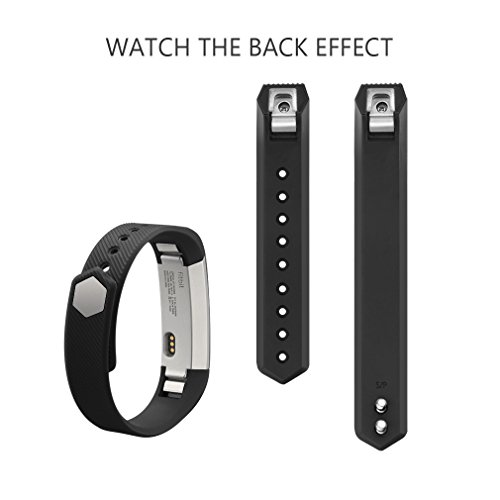 AK C 108 Fitbit Alta Bands, Replacement with Metal Clasp, Large, Black