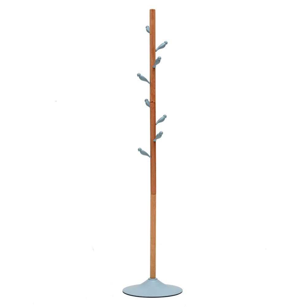 White Coat Rack Clothes Rack Coat Stand Hat Rack Wood Beech Bird Hooks for Bedroom Office Hallway Garage Free Standing Pergola Flower Stand 178  38 cm (color   bluee)