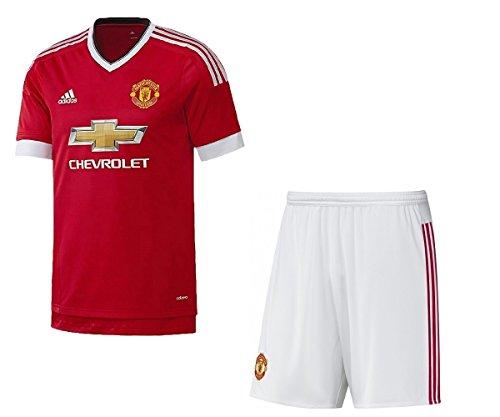 Adidas Boys Kit (Adidas Manchester Utd Boys Home Kit Soccer Kit Man Utd Home Jersey/Shorts New (15/16)