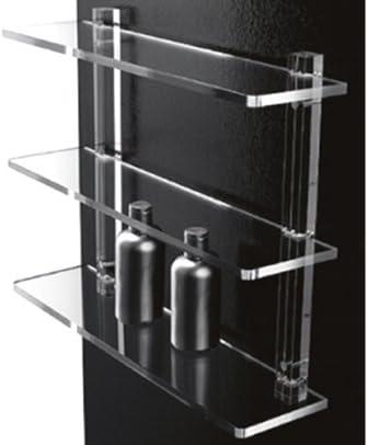 Accessori Bagno In Plexiglass.Mensole Da Bagno In Plexiglass Con Supporti Trasparenti Arredo Bagno O Cucina Design Amazon It Casa E Cucina