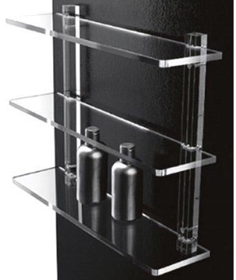Accessori Per Il Bagno In Plexiglass.Mensole Da Bagno In Plexiglass Con Supporti Trasparenti Arredo Bagno
