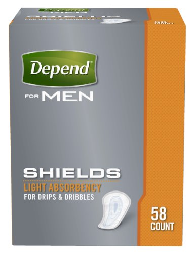 Depend Incontinence Shields for Men, Light Absorbency, Packaging May Vary