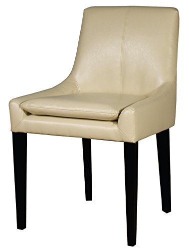 New Pacific Direct Chase Bonded Leather LB Chair,Black Legs,Ivory ()