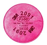 3M 2091 P100 Filter For 5000, 6000, 6500, 7000 And FF-400 Series Respirators