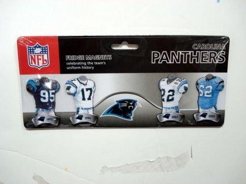 NFL Carolina Panthers 4-Pack Uniform Magnet Set