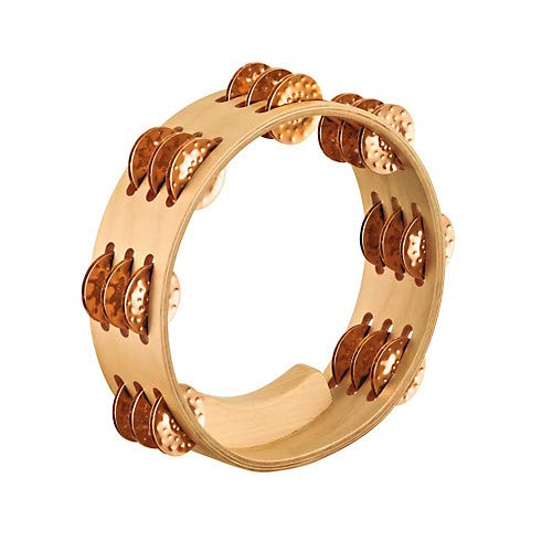 Artisan Compact Maple Wood Tambourine Three Rows