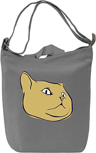Kitty face Borsa Giornaliera Canvas Canvas Day Bag| 100% Premium Cotton Canvas| DTG Printing|