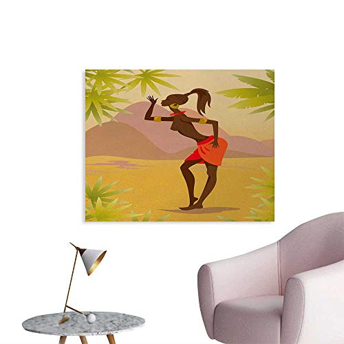 Tudouhoho African Woman Funny Poster Young Zulu Girl