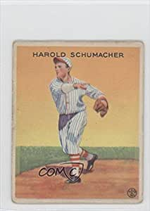 Hal Schumacher COMC REVIEWED Good to VG-EX (Baseball Card) 1933 Goudey Big League Chewing Gum R319 #129