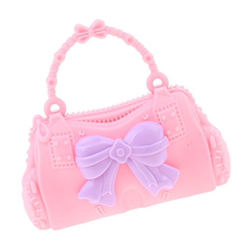 Baoblaze 28 Butterfly 30cm Bag Bag Pretty Doll Barbie Girl Kid Plustic Shoulder Dolls Handbag Pink Accessories for rItx0rYqw
