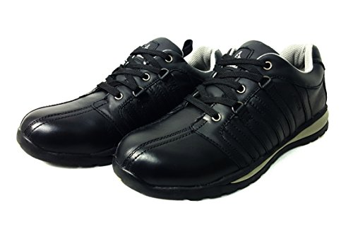 Grey de Mens sintética Botas Formadores Grey piel SW trabajo tobillo seguridad de puntera excursionista 6 SW acero Zapatos de de Black Black AYa4W6qY