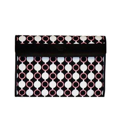 nuo-tech-kailo-chic-slim-sleeve-pattern-black-white-pink-modern-circles