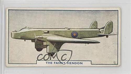 The Fairey Hendon (Trading Card) 1925 Godfrey Phillips Aircraft - Tobacco [Base] - Matte Finish Back #5