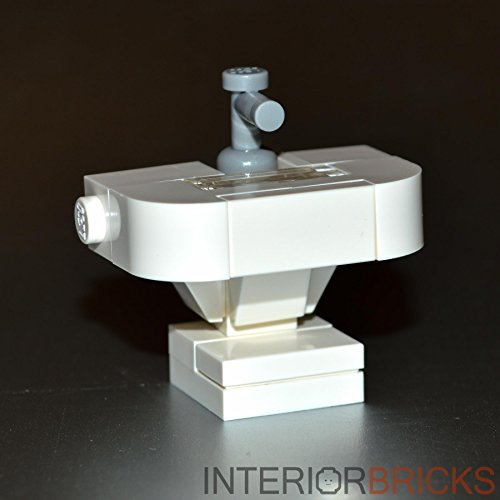 Lego Custom Instructions (LEGO Furniture: Bathroom Sink White - Custom Set with Parts & Instructions)