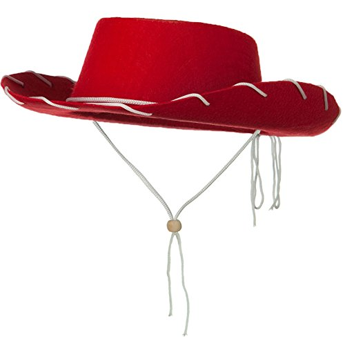 Childs Western Woody Style Kids Cowboy Ranch Hat RED