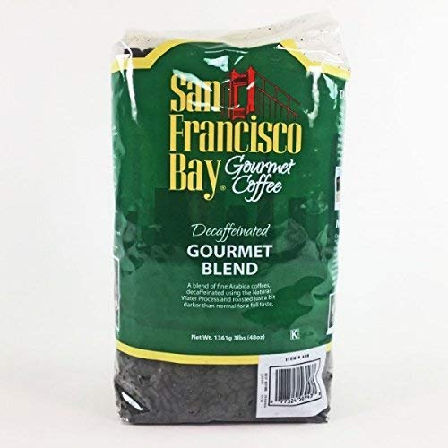 San Francisco Bay Coffee, Decaf Gourmet Blend- Whole Bean, 3-Pound (48 oz.), Swiss Water Process- Decaffeinated (3 Pounds) (Best Coffee Beans In San Francisco)