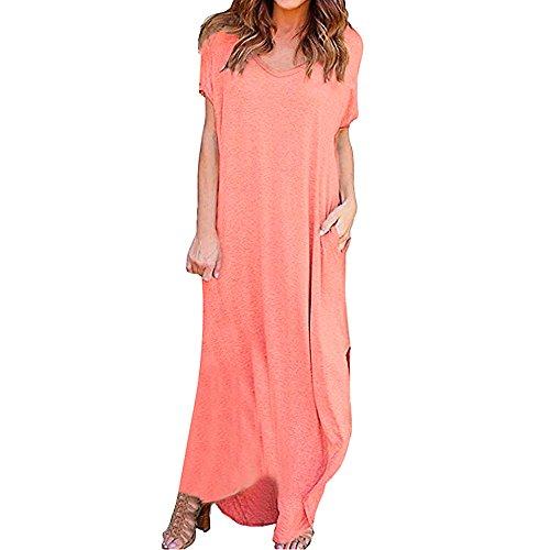 WOCACHI Womens Stripe Dresses Sleeveless Casual Dress Round Neck Vestido Midi Color Block Irregular Hem Party Sundress 2019 New Summer Deals Under 10 Dollars Evening Dress (Summer Stripe Hamptons)