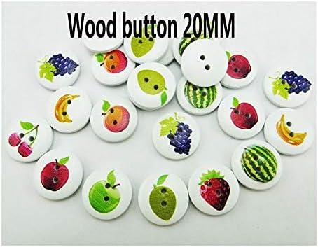 LGCD 25PCSスイカフルーツシリーズは、木製の桜のボタンキッド服アクセサリージュエリーフィットクラフトブランドボタンMCB-060絵画 (Color : White background)