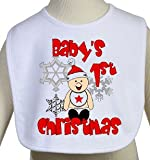 Baby's First Christmas Holiday Bib