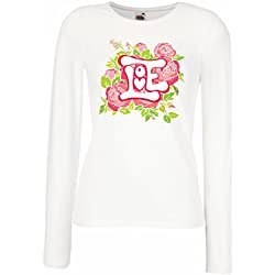 "T shirts for women Long sleeve ""Love me"" Valentine day gifts idea (XX-Large White Multi Color)"