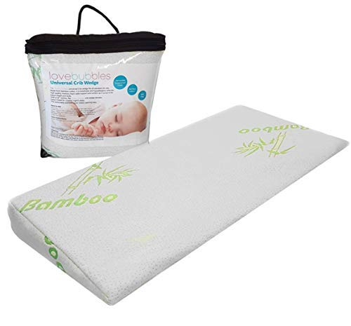 Crib Wedge | for Reflux and Colic | Washable Cover | 12 Degree Wedge | Infant Pillow for Better Sleep