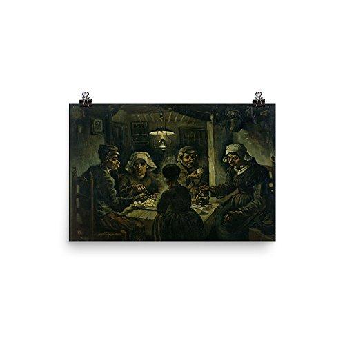 The Potato Van Gogh Eaters Vincent (Vincent van Gogh's The Potato Eaters 0030 - Enhanced Matte Paper Poster (12x18))