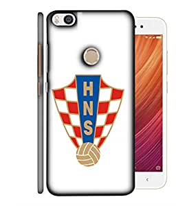 ColorKing Football Croatia 05 White shell case cover for Xiaomi Mi Max 2
