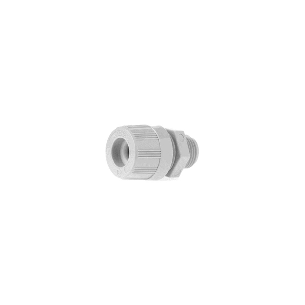 Woodhead 5622W Cable Strain Relief Grip, O-Ring, Locknut, Straight Male, Max-Loc Cord Seal, 3/4'' NPT Thread Size, Gray Grommet Color, .250-.375'' Cable Diameter