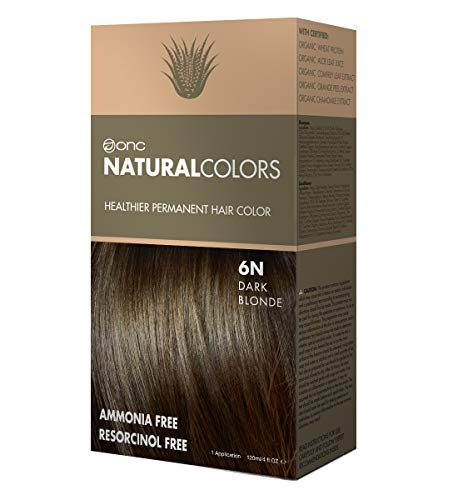 Series Organic (ONC NATURALCOLORS 6N Natural Dark Blonde Healthier Permanent Hair Color Dye 4 fl. oz. (120 mL) with Certified Organic Ingredients, Ammonia-free, Resorcinol-free, Paraben-free, Low pH, Salon Quality, E)