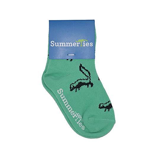 SummerTies Toddler Socks Skunk - Black on Green