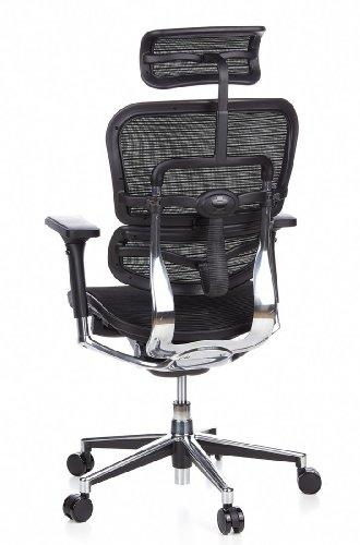 Ergohuman Bürostuhl mit Netz-Stoff, schwarz - 9