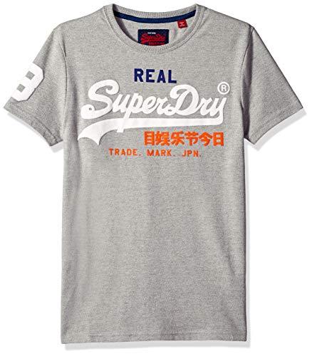 569f2aff0 Superdry Men's Vintage Logo TRI T-Shirt, Montana Grey grit, M