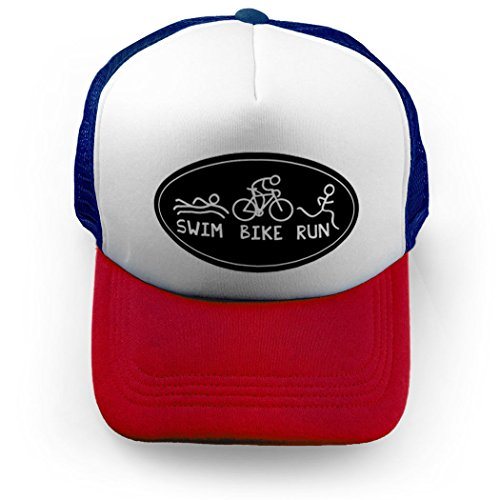 Gone For a Run Triathlon Trucker Hat Swim Bike Run - Triathlon Hats
