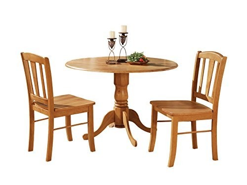 Used, East West Furniture DLIN3-OAK-W 3-Piece Kitchen Table for sale  Delivered anywhere in USA