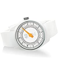 Men's 'SOLO' Quartz Plastic and Silicone Casual Watch, Color:White (Model: 40N4.2.2)