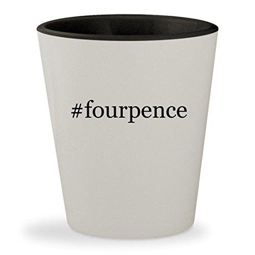 #fourpence - Hashtag White Outer & Black Inner Ceramic 1.5oz Shot Glass