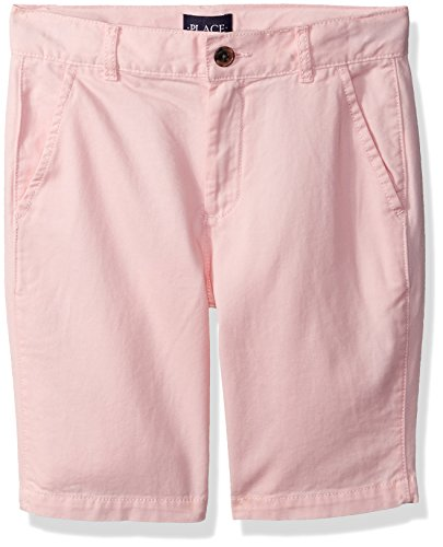 The Children's Place Big Boys' Chino Short, Pink Rose 4740, (Pink Chino)