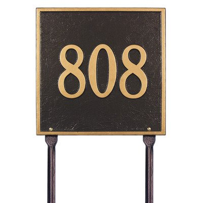 - Square Standard Address Sign Finish: Pewter and Silver