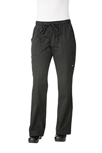 Chef Works Women's Traditional Chef Pant, Black And White, 3X-Large