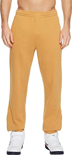 Fila Men's Classic Fleece Pants, Wheat, White, - Classic Filas