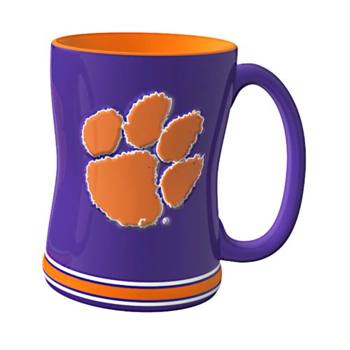 NCAA Clemson Tigers Sculpted Relief Mug, 14-Ounce