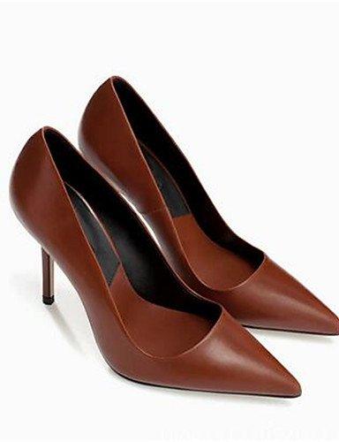 GGX/Damen Schuhe PU Sommer Heels Heels Casual geschoben Ferse andere schwarz/braun/pink black-us6 / eu36 / uk4 / cn36
